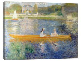 Canvas print  The Seine at Asnieres - Pierre-Auguste Renoir