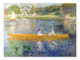 Premium poster  The Seine at Asnieres - Pierre-Auguste Renoir