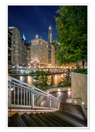 Premium poster Chicago River Walk