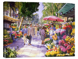 Canvas print  Flower market in Barcelona - Paul Simmons