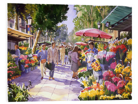Foam board print  Flower market in Barcelona - Paul Simmons