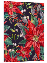 Foam board print  The Poinsettia