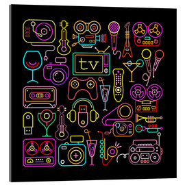 Acrylic print  Entertainment icons