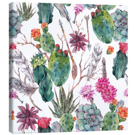 Canvas  Exotic cactus pattern