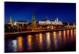 Acrylic print  Moscow Kremlin and Vodovzvodnaya tower at night