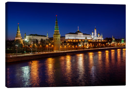 Canvas  Moscow Kremlin and Vodovzvodnaya tower at night
