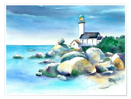 Premium poster  Lighthouse Pontusval - Jitka Krause