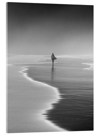 Acrylic print  Lone surfer at the beach - Alex Saberi