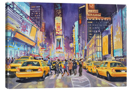 Canvas print  Times Square at night - Paul Simmons