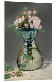 Acrylic print  Roses in a vase - Edouard Manet