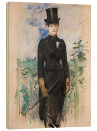 Wood print  Amazon - Edouard Manet