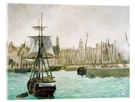 Acrylic print  The Port of Calais - Edouard Manet