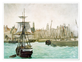 Premium poster  The Port of Calais - Edouard Manet