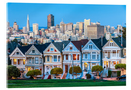 Acrylic print  Painted Ladies, San Francisco