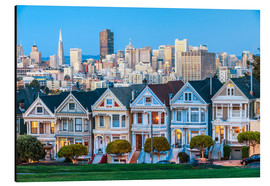 Alu-Dibond  Painted Ladies, San Francisco