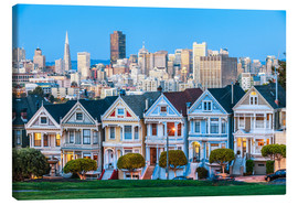Canvas print  Painted Ladies, San Francisco