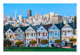 Premium poster  Painted Ladies, San Francisco