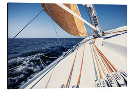 Aluminium print  Sailing yacht at full speed