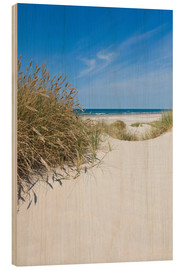 Wood print  Dunes and the Sea