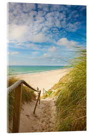 Acrylic print  Narrow path to the beach