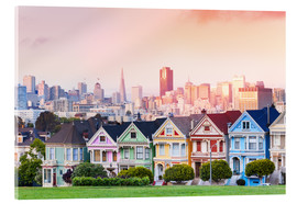 Acrylic print  Painted Ladies in the evening