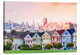 Canvas  Painted Ladies in the evening