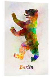 Acrylic print  Bear of Berlin