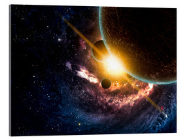 Acrylic print  Planets in space