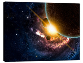 Canvas print  Planets in space