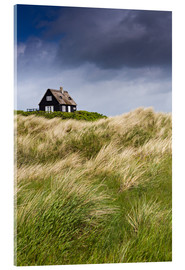 Acrylic print  Cottage in the dunes during storm
