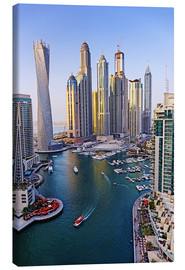Canvas  Dubai Marina from above