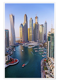 Premium poster  Dubai Marina from above