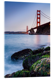 Acrylic print  Moss-covered rocks at the Golden Gate