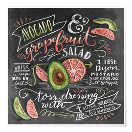 Poster Avocado Grapefruit Salad