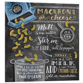 Foam board print  Macaroni and Cheese recipe - Lily & Val