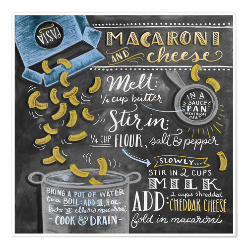 Poster Macaroni and Cheese recipe