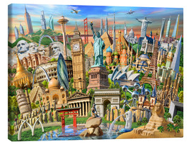 Canvas print  World Landmarks Collection - Adrian Chesterman