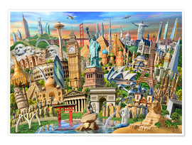 Premium poster World Landmarks Collection