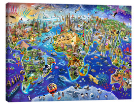 Canvas  Crazy world - Adrian Chesterman