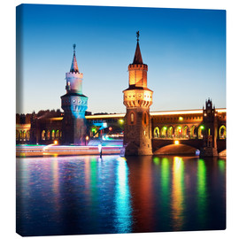 Canvas print  Berlin - Oberbaum Bridge - Alexander Voss
