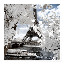 Premium poster  Infrared Shipping in Paris - Philippe HUGONNARD