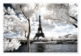 Premium poster Infrared - Paris Eiffel Tower