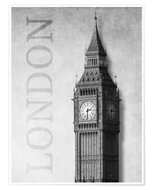 Premium poster  London - Big Ben - Alex Saberi