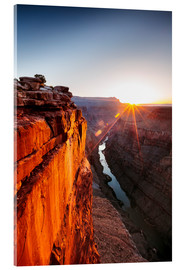 Acrylic print  Beautiful sunrise on Grand Canyon and river Colorado, USA - Matteo Colombo
