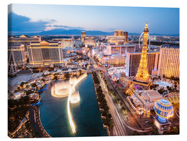 Canvas print  View on Bellagio fountain and the Strip, Las Vegas, Nevada, USA - Matteo Colombo