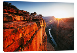Canvas  Beautiful sunrise on Grand Canyon and river Colorado, USA - Matteo Colombo