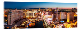 Acrylic print  View on Bellagio and the Strip, Las Vegas, Nevada, USA - Matteo Colombo