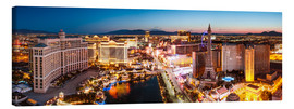 Canvas print  View on Bellagio and the Strip, Las Vegas, Nevada, USA - Matteo Colombo