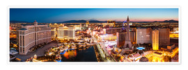 Premium poster  View on Bellagio and the Strip, Las Vegas, Nevada, USA - Matteo Colombo