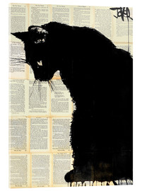 Acrylic glass  cat black - Loui Jover